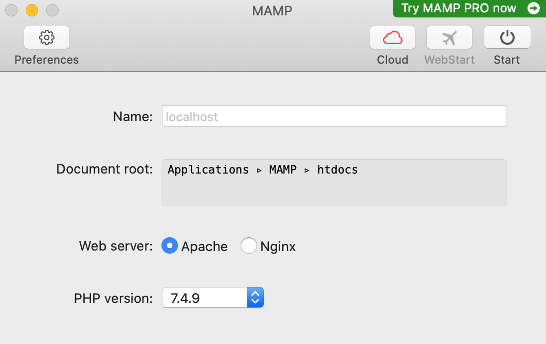 installing MAMP on Mac OS