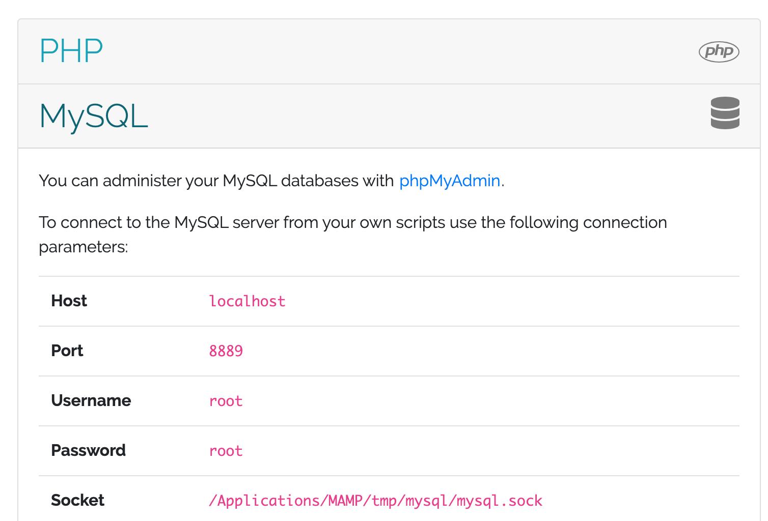 MySQL in MAMP on Mac OS